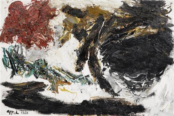 paysage noir by karel appel