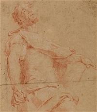heiliger mit einer schreibfeder in seiner rechten hand by guillaume courtois