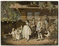 die taufe im canton bern (+ die hochzeit im canton bern; 2 works) by franz niklaus könig