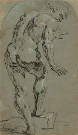 stehender männlicher akt by domenico tintoretto