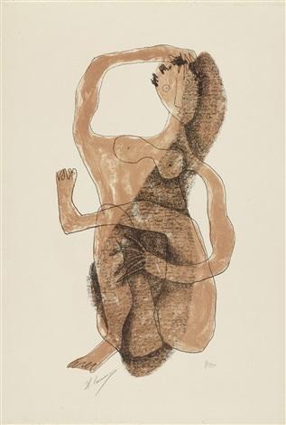 2 bll femme allongée au bras levé femme assise à la jambe levée 2 works by henri laurens