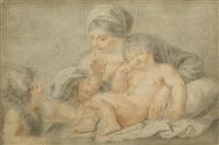 madonna mit kind und johannesknaben by francesco bartolozzi