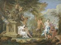 tanz der nymphen und satyren by filippo lauri