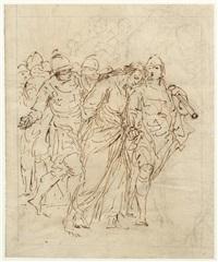 jesus von soldaten zum kreuzweg geführt by giuseppe piattoli