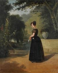 junge frau im park by jean-francois dunant