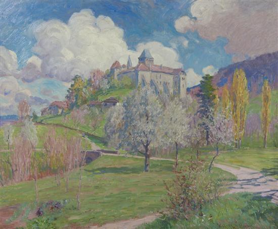 above vervy chateau de blonay by william samuel horton