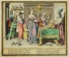 virtuous women (engraved by z. dolendo) (set of 8) by jacques de gheyn ii