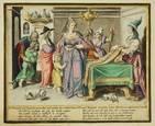 virtuous women (engraved by z. dolendo) (set of 8) by jacques de gheyn ii