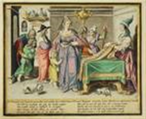 virtuous women engraved by z dolendo set of 8 by jacques de gheyn ii