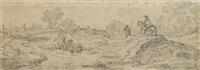 landschaft mit bauern und reiter by cornelis simonsz van der schalcke