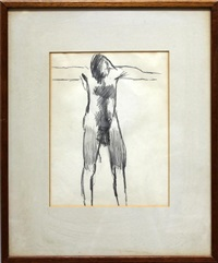 figure with outstretched arms by keith vaughan
