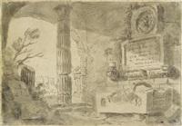 capriccio mit ruinen by pierre lelu