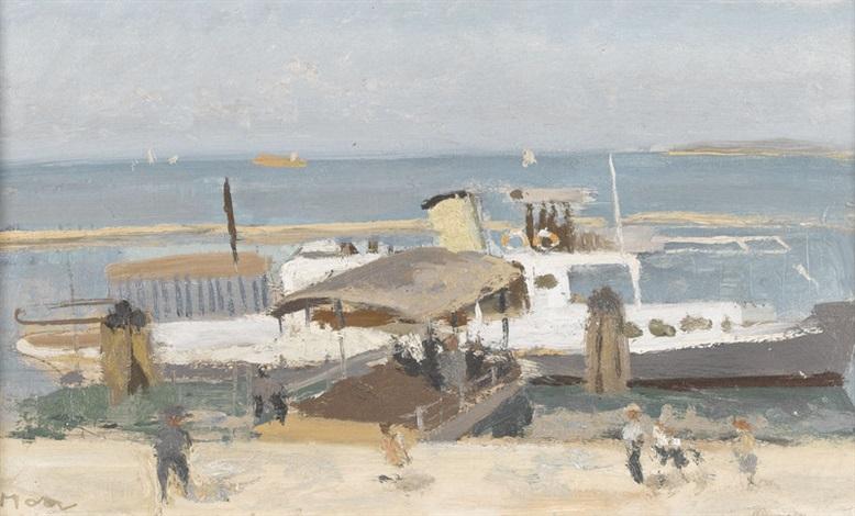 Dampfschiff Am Landungssteg By Karl Moor On Artnet