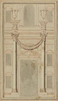 säulen, iachin und boas im vorhof by johann melchior füssli