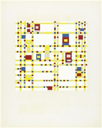 mondrian (portfolio of 12 w/colophon, index and intro by michel seuphar) by piet mondrian