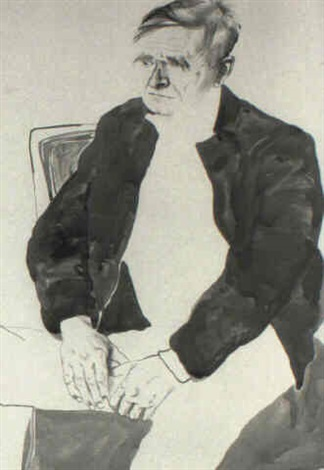 portrait of christopher isherwood by don bachardy
