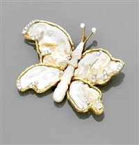 butterfly brooch by nadine ifrah leo