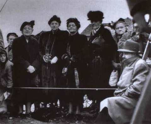 seattle wash ladies waiting to welcome genl mcarthur upon his return from the far east by william heick