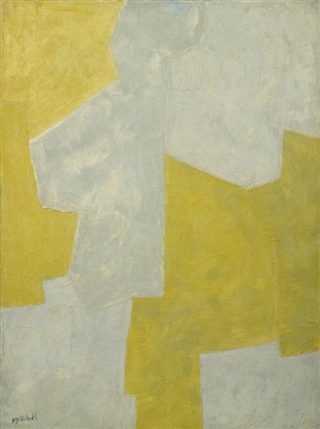 composition grise et jaune by serge poliakoff