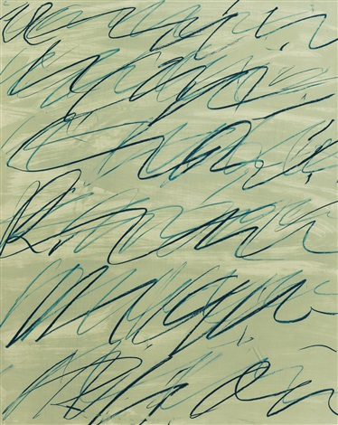 roman notes ii by cy twombly