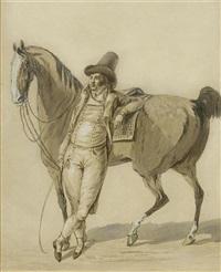 reiter mit pferd by johann conrad gessner