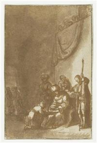 die handwaschung des pilatus by constantijn daniel van renesse