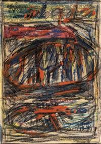 lanskap x (landscape x); & telaga (2 works) by latiff mohidin