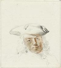 porträt eines jungen herren mit dreispitz by cornelis troost