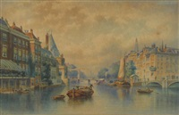 view of the amsterdam doelen by eduard alexander hilverdink