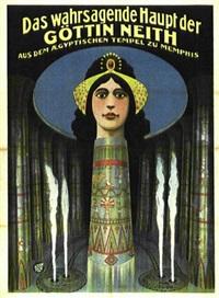 das wahrsagende haupt der göttin neith aus dem aegyptischen tempel zu memphis by posters: circus