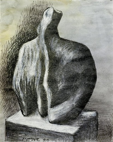 sculpture bust ii by henry moore