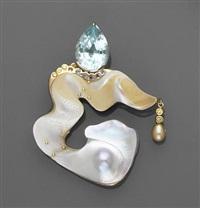 freedom of form brooch/pendant by darryl alexander