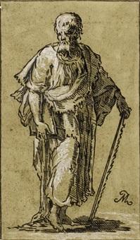 der apostel simon mit buch und säge by antonio maria zanetti