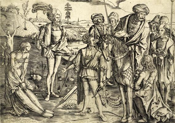 das schiessen auf den toten vater martyrium des heiligen sebastian by matthaus zasinger