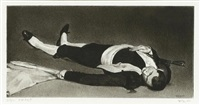 dead matador (after manet) by robert longo