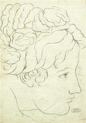 portrait einer jungen frau im seitenprofil nach rechts by andré derain