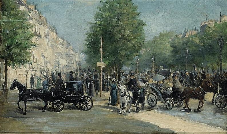 avenue des champs élysée by edmond georges grandjean