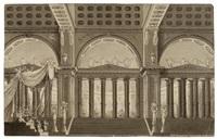 palastanlage mit kolonaden. entwurf zu einem bühnenbild by antonio de pian