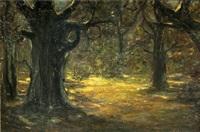 mondnacht im wald by oskar frenzel