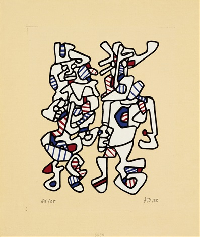 parade nuptiale by jean dubuffet