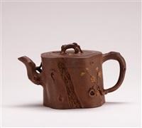 plum tree shaped teapot by jiang yanting