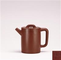 zhuni cylindric teapot by jiang xianming