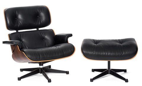 Loungesessel  Lounge Sessel mit Ottoman, Modell Nr. 670 by Charles and Ray Eames ...