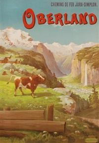 chemins de fer jura-simplon. oberland by frederic hugo d' alesi