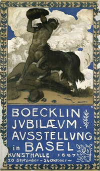 boecklin jubilaeum. ausstellung in basel. kunsthalle, 20 september - 24 oktober 1897 by hans sandreuter