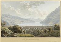 vue de wallenstadt (after johann jakob wetzel) by franz hegi