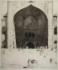 de ingang der vrijdag moskee te delhi by marius bauer