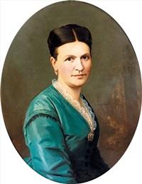 porträt einer eleganten dame by sebastian buff