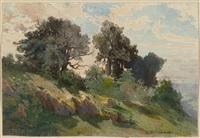 hill near kreutznach by alexandre calame