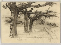 plane trees by edouard (eugène françois) vallet